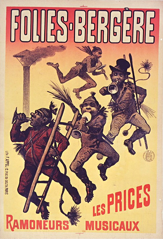 19th cent. french music-hall poster of chimney sweeps