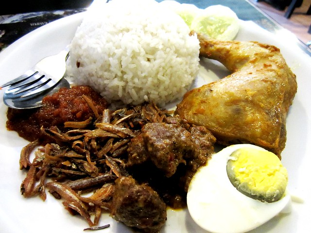 Noodle House nasi lemak with spiced chicken & rendang