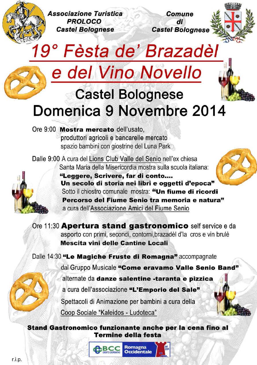 19° Festa dè Brazadel d'la cros e del vino novello, domenica 9 novembre 2014