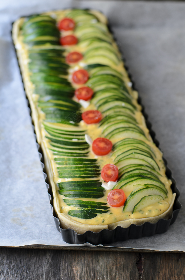 Zucchini, Feta and Chives Pie