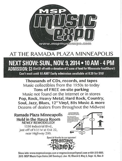 11/09/14 MSP Music Expo @ Ramada Plaza, Minneapolis, MN