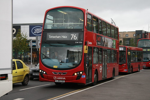 Arriva London DW306 on Route 76, Tottenham Hale