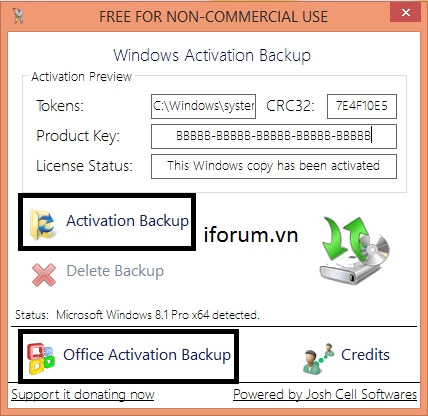 H ng d n sao l u ph c h i b n quy n cho windows 8 1 v - Download office 2013 full crack key ban quyen ...