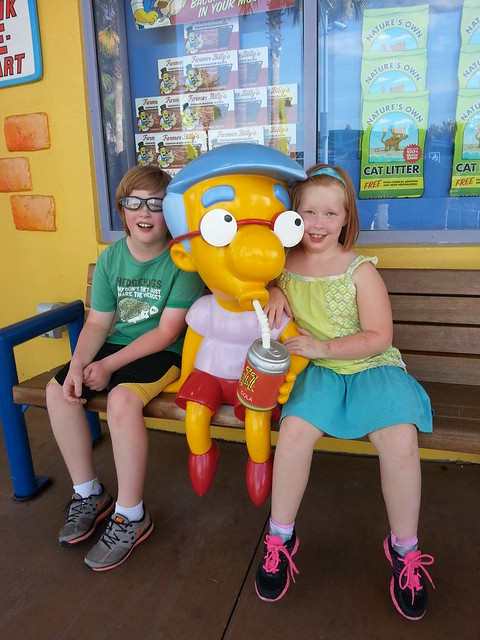 just hanging out with Milhouse