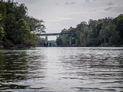Savannah River from Stokes Bluff with LCU Nov 7, 2014, 4-18 PM Nov 8, 2014, 10-52 AM