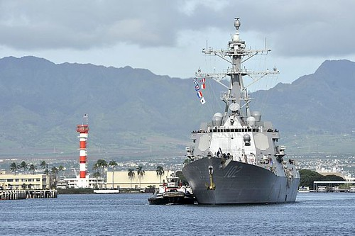 USS Sampson arrives at Joint Base Pearl Harbor-Hickam