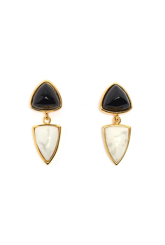 Graphic Shield Earrings