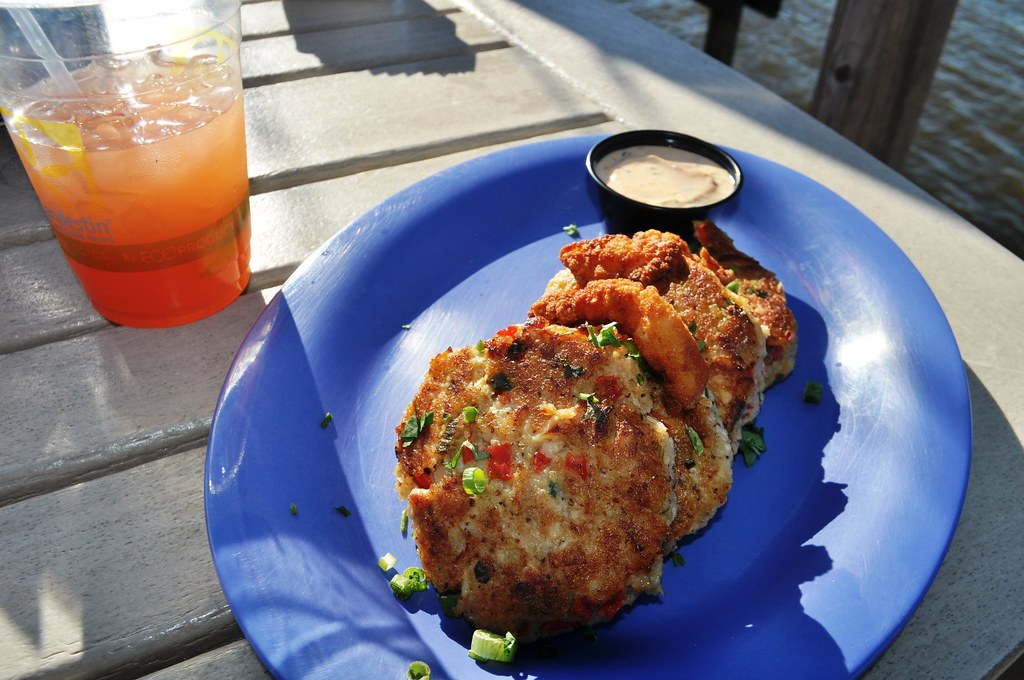 Sandestin Sandollar and Clam Cakes at the Marina Bar & Grill - Sandestin Golf and Beach Resort, Florida, Oct. 25, 2014