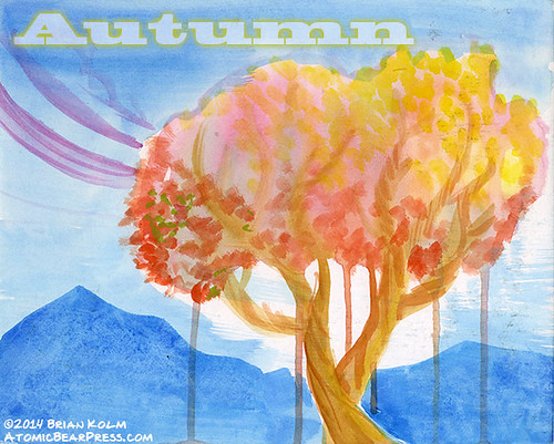 Autumn watercolor 01