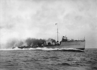 HMS Ghurka at sea
