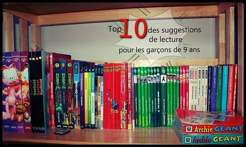 top 10 des suggestions de lecture pour les garçons de 9 ans