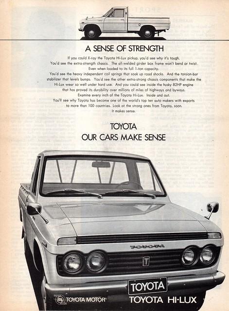 1969 Toyota Hi-Lux RN10 Utility Pick-Up International Aussie Original Magazine Advertisement