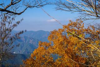 棒ノ嶺と微かに武川岳を展望@日の出山