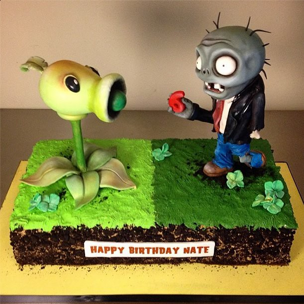 Plants vs Zombies by Sideserf Cake Studio