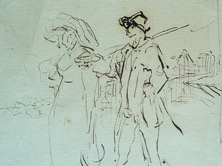 MILLET Jean-François,1850 - Départ pour le Travail, Etude - The Walk to Work  (drawing, dessin, disegno-Louvre RF11191) - Detail 30