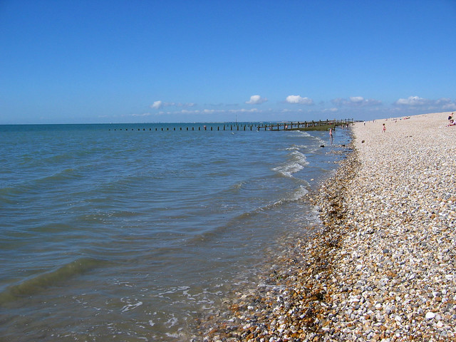 Running out of sand near Selsey