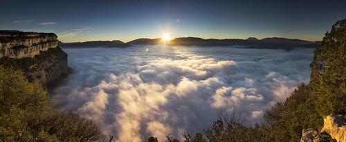 amanecer sunrise sau pantano pantà embalse dam nubes clouds sea mar panorama panoramica