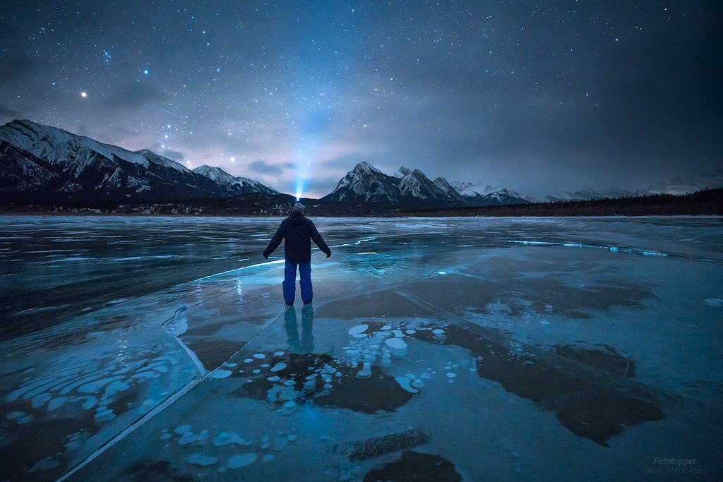 'Interstellar Bubbles' - Abraham Lake, Alberta