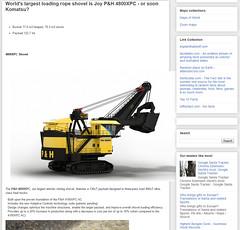 World's largest loading rope shovel is Joy P&H 4800XPC