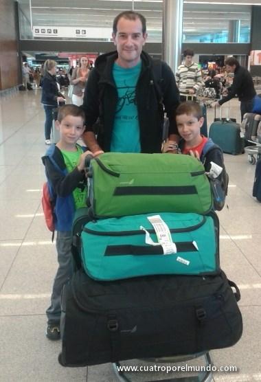 Recien llegados al aeropuerto de Montevideo