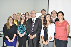 President Hopkins visits SAHE class