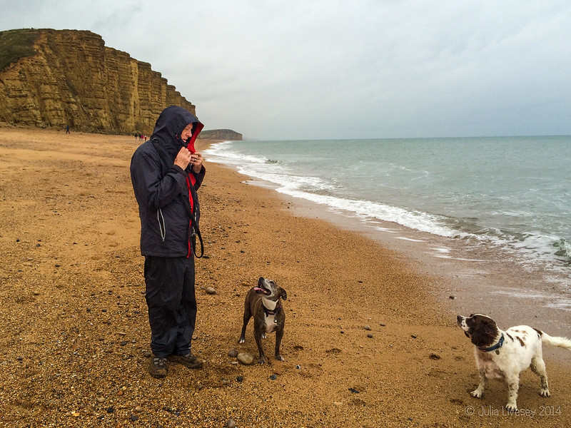 It was a bit bleak on the beach at West Bay