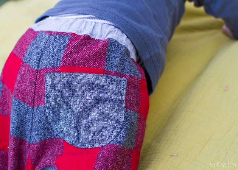 lumberjack layette pants