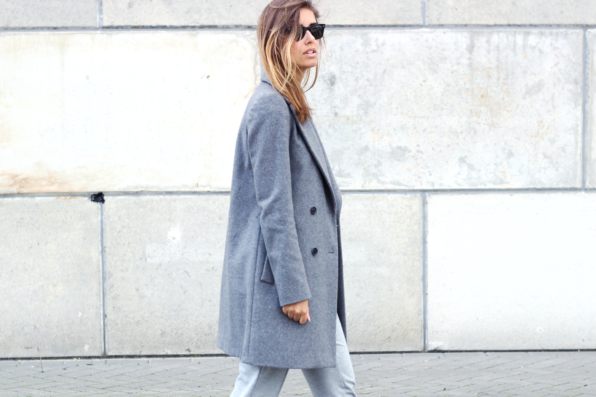 Zara oversized grey coat fall winter 2014