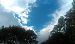 A peek of blue sky.