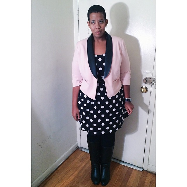 #ootd yesterday - I always forget about this blazer and it's so cute. #plussize #fatshion #ootd #whatiwore #wiw