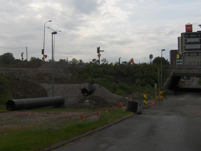 Hämeenlinnan moottoritiekate ja Goodman-kauppakeskus: Työmaatilanne 7.7.2012 - kuva 1