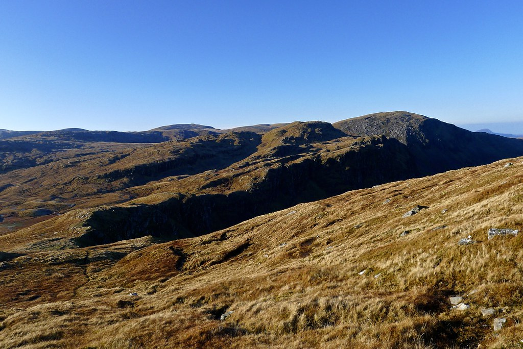 View south from the lip of the Cadha Dearg