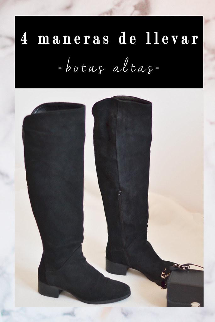4 maneras de llevar botas altas negras