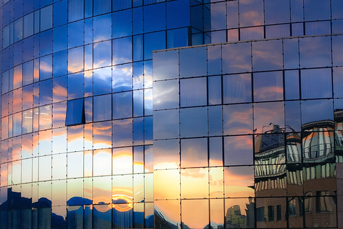 windows sunset sky reflection building art glass colors architecture clouds mirror hungary budapest photooftheday picoftheday skyporn rx100m3