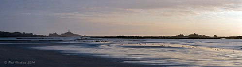 sea lighthouse seascape canon coast sand sundown jersey serene