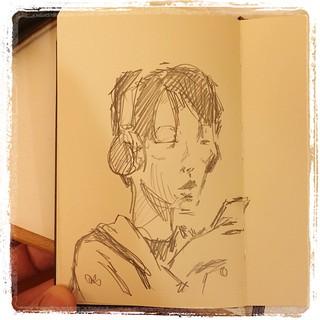 #urbansketch #japon #portraits #metro #pentel #kerry #moleskine