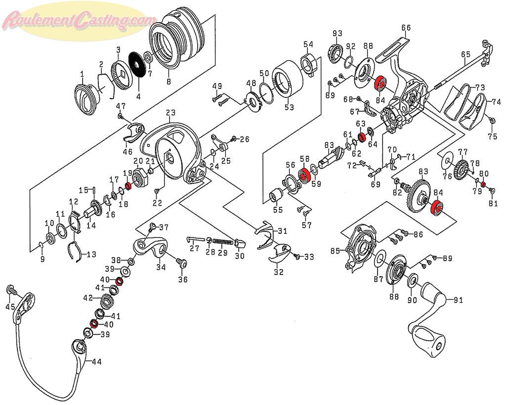 Schéma Daiwa Certate 2506H Hi Gear Custom