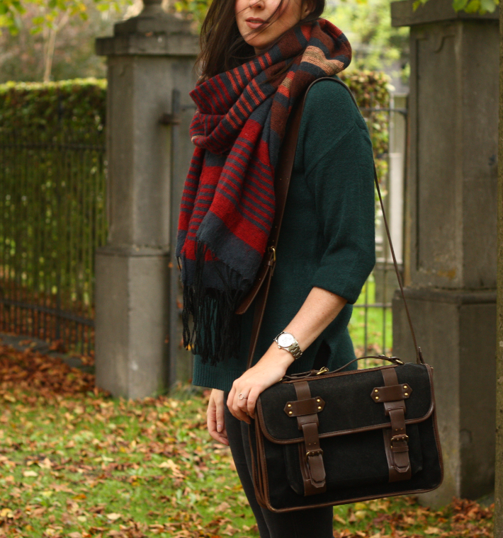 oversized scarf satchel
