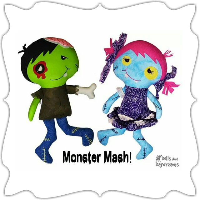 New #zombie #SewingPattern sneak peek!!!!   Let's build a #dollsanddaydreams zombie this #Halloween
