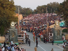"""""""Lowering of the flag"""" ceremony @ Wagah Border @ Pakistan"""