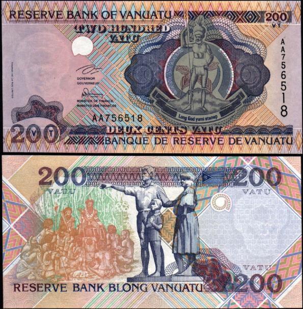 200 Vatu Vanuatu 1995, Pick 8