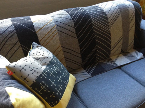 Chevron Blanket with cushions