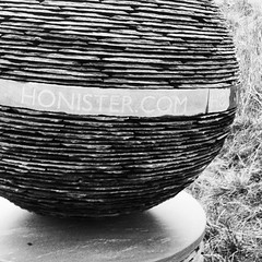 #DeathStar made out of slate at #Honister #SlateMine (not sure that was what they were going for, but...) #StarWars
