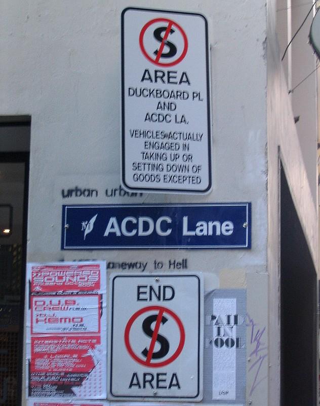 ACDC Lane, October 2004