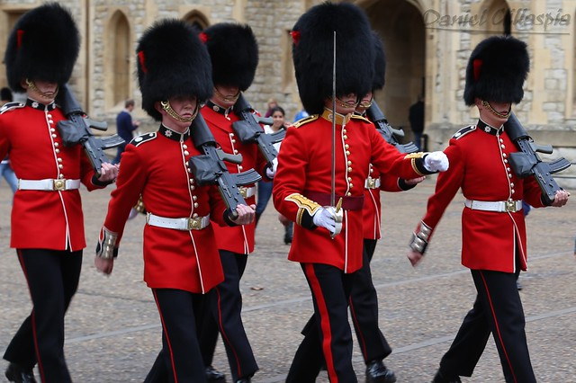 Changing of the guards at the Tower of London