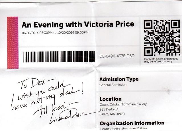 Victoria Price autograph