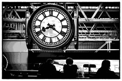 The clock at Waterloo station