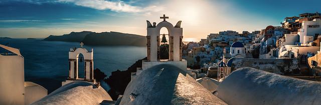 claudecastor - Santorini - Oia Panorama Sunset