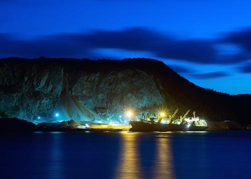 industry night ship atlanticocean freighter saltie nikkor4386mmf35zoom sonyalpha7rilce7ra7r vacation2014fallatlanticcanada