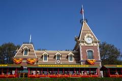 Disneyland Railroad at Halloween